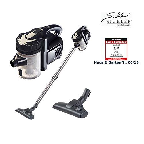 Sichler Haushaltsgeräte Staubsauger kabellos: 2in1-Akku-Zyklon-Staubsauger, Aufsatz-Bürste & Aluminium-Rohr, 25,2 V (Akku Zyklon Hand Boden Staubsauger)