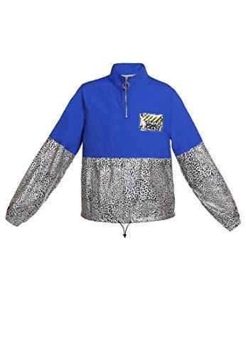 myMo ATHLSR Leichte Jacke Damen 13707700 blau Silber Leo, S