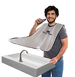 KEEP YOUR SINK CLEAN with your beard apron. There is no need to spend hours cleaning the sink and bathroom. Just put your beard apron and save your time for better things. 2021 NEWEST BEST QUALITY, WATERPROOF MATERIAL, We used for our beard apron pol...