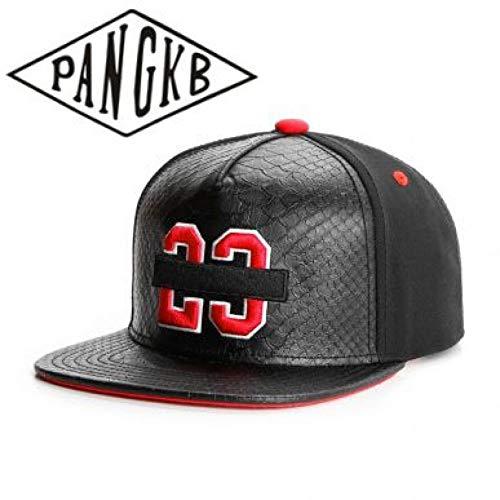 Fnito Beisbol Gorra Gorra prohibida Cuero algodón 23 Snapback Hat Hip Hop Headwear Hombres Mujeres Adulto al Aire Libre Casual Sun Gorra de béisbol