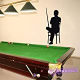 ASFGA Billard Aufkleber Snooker Aufkleber Poster Vinyl Wandtattoo Dekoration Raumdekoration Wandbild Billard Wandtattoo Club 58x140cm