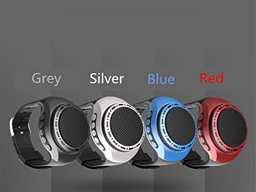 Wireless Bluetooth Watch Speaker Portable Wearable Mini Sport Stereo Subwoofer Speakers with Speakerphone, Multi Function MP3 Player & FM Radio&Anti-Lost&Ultra Long Standby Time for Any Smarter Phone 6