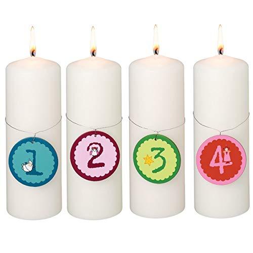 Räder Design - Velas de adviento con números 1 - 2 - 3 - 4