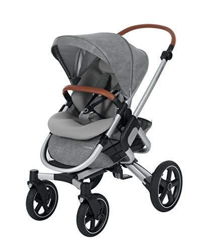 Maxi-Cosi Nova 4-Rad Kombi-Kinderwagen, großer, komfortabler Outdoor Kinderwagen mit Liegeposition, einfach und schnell zusammenklappbar, nutzbar ab ca. 6 Monate bis ca. 3,5 Jahre, nomad grey