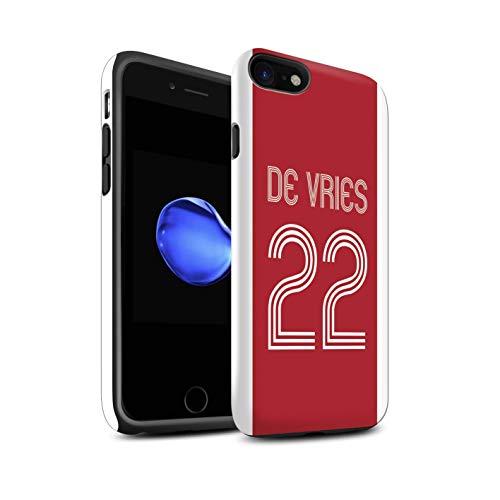 Stuff4 Telefoonhoesje/Cover/Skin/IP-3DTBM / Aangepaste Euro Football Club Shirt Kit Collectie Apple iPhone SE 2020 Rood Wit