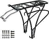 P4B | Design Gepäckträger für Ihr Fahrrad | Traveller Basic | Gepäckträger mit Universallbefestigung für 24' / 26' / 28' / 29' verstellbar | Tragelast bis 25kg | In Schwarz