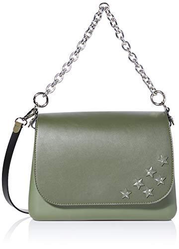 O bag Borsa Glam, Pochette da Giorno Donna, Verde, 27x8x19 cm (W x H x L)