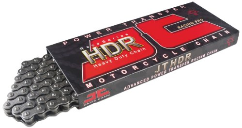 JT Chain JTC428HDR132SL (428 Series) Black Steel 132 Link Heavy Duty Non O-Ring Chain with...