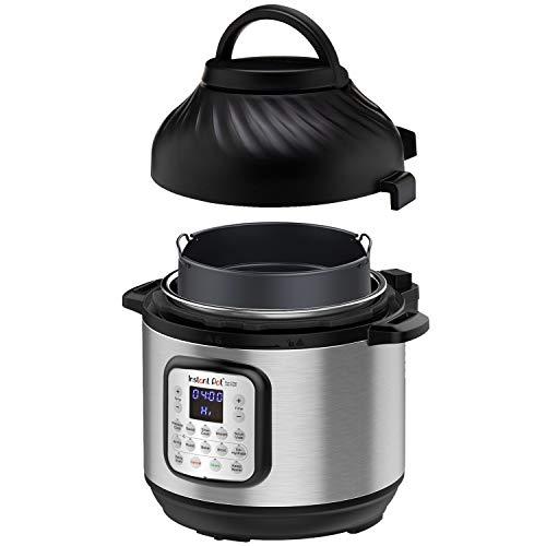 Instant Pot Duo Crisp + Luftfritteuse 8L Multicooker 11-in-1-Schnellkochtopf, Braten, Steaks, Slow Cooker, Sousvides, Warms, Pommes Frites, Braten, Backen, Braten und Dehydrieren.