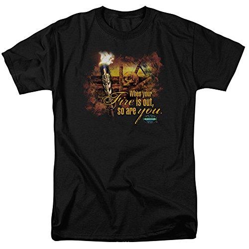 Trevco Survivor Tv Series - Camiseta de manga corta para hombre - Negro - X-Large