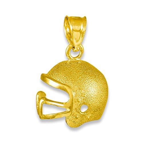 Kleine Schätze - 14 Karat Gold-Football-Helm- Anhänger Halskette (Kommt mit einem 45 cm Kette)