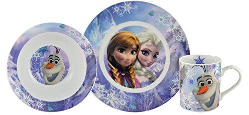 Set petit déjeuner Disney La Reine des Neiges : Olaf, Elsa et Anna