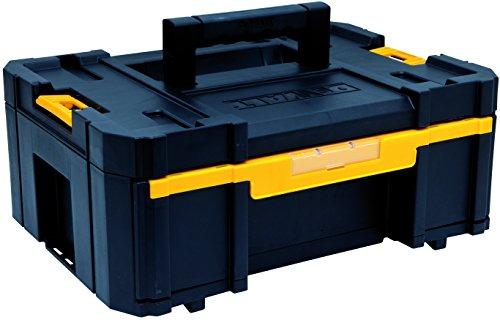 DeWalt Tstak III Transportbox, stabelbare Werkzeugbox (Schubladen-Box mit 6 zusätzlichen Inset-Boxen, kombinierbar mit anderen Tstak-Boxen, sichere Verwahrung von Elektrowerkzeugen und Handwerkzeugen), DWST1-70705