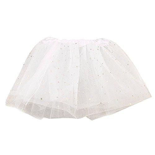 MAYOGO Kinder Tüllrock 50er Kurz Tutu Ballet Tanzkleid Blumenmuster Unterkleid Cosplay Crinoline Petticoat für Rockabilly Kleid Karneval Party Rock