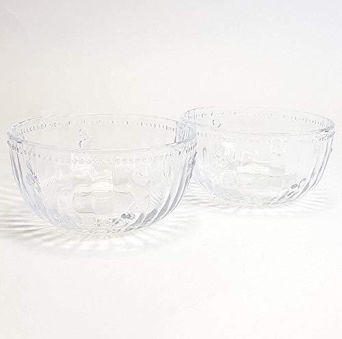 Joules Bumblebee Design Juego de 2 cuencos de vidrio para postre  Cuenco de fruta o pudín en relieve de abeja de 12 cm