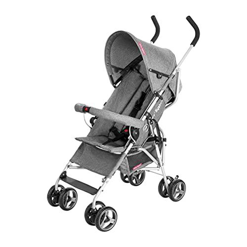Moby-System Poussette Canne Pliable pour Bébé jusqu'à 15 kg | Ceinture 5 points, Barrière de...