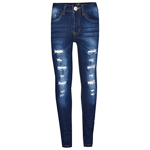 A2Z 4 Kids® Kinder Mädchen Dünn Jeans Designer Denim Zerrissen - Girls Jeans M617 Light Blue 3-4