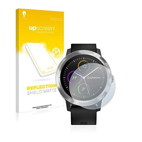 upscreen Entspiegelungs-Schutzfolie kompatibel mit Garmin Vivoactive 3 / Forerunner 45 / Approach S40 – Anti-Reflex Bildschirmschutz-Folie Matt