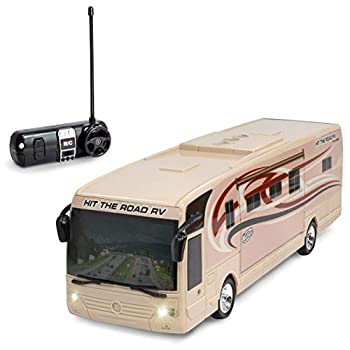 Kidirace Remote Control RV with Beaming Lights Rechargeable Battery – High-Speed RC Cars for Boys and Girls
