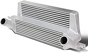 Silver Stepped Bar&Plate Core Front Mount FMIC Bolt-on Aluminum Intercooler Replacement for Ford Mustang Ecoboost 15-19