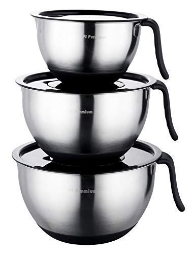 Premium Stainless Steel Mixing Bowls Set of 3