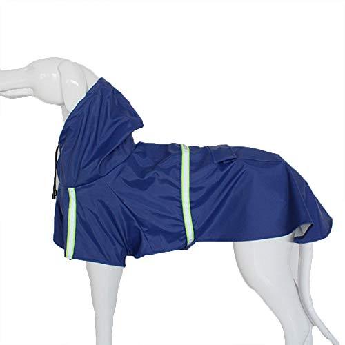 XWDQ Mode Huisdier Hond Kleding Lente en Zomer Mantel Reflecterende Huisdier Regenjas Uw Huisdier Perfecte Hooded Regenkleding (Blauw)