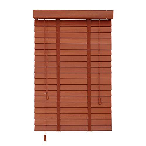 WYAN Jalousien Massivholz-Shading Breathable Anti-UV-Jalousien Umweltschutz Indoor, Verschiedene Größen können angepasst Werden (Color : A, Size : 85X150CM)