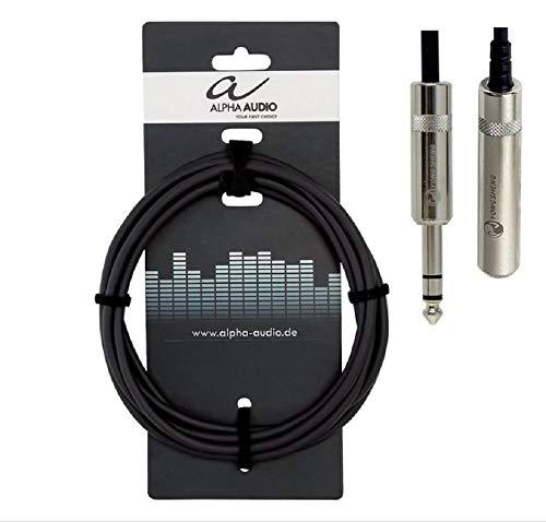 Alpha Audio 190711 Pro Line Kopfhörerverlängerung (6,3 m, Stereoklinke Stecker auf Stereoklinke Buchse)