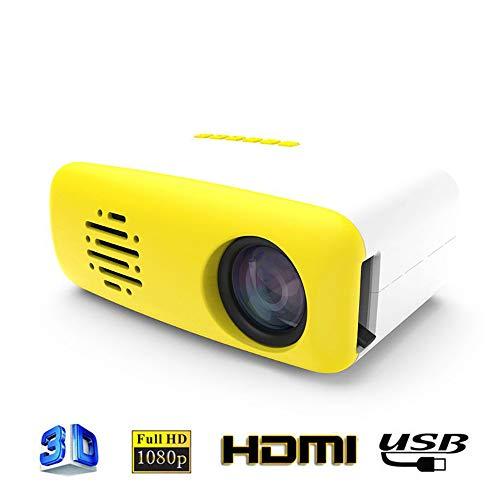 Linbing123 Mini Smart LED Proyector Casero, Teléfono Móvil LCD Misma Pantalla De Interfaz De Proyector HD AV TV Interfaz Mini Proyector 1080P / 400-600 Lúmenes/TF/USB,American regulations