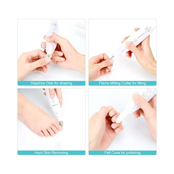 Beauty Shopping BEAUTURAL Professional Manicure and Pedicure Kit, 10-piece Attachments and 20 Sanding