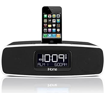 iHome iP90 Dual Alarm Clock Radio AM/FM Presets & Dock for iPod and iPhone  Not Compatible w/iPhone 5