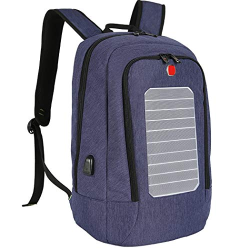 Laptop Backpack, Fanspack Solar Powered Laptop Backpack with USB Charging Port Waterproof...