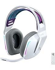 Logitech G733 K/DA LIGHTSPEED Bezprzewodowy zestaw słuchawkowy do gier z zawieszanym pałąkiem, Oficjalny sprzęt do gier League of Legends - Biały