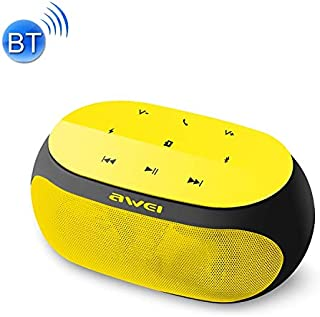 Wireless Buletooth Stereo Speaker Y200 Wireless Bluetooth Speaker with Touch Buttons, Support Aux Line and TF Card(Gold) (Color : Yellow)