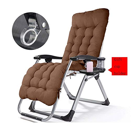 LQ-zhedieyi Tilt Tuinstoel, opvouwbaar, instelbare hoek van comfortabele zonneligstoel, uitgerust met luxe rugleuning