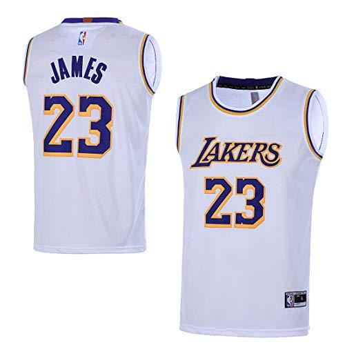 VF Youth Kids 23 LeBron James Los Angeles Lakers Jersey, infantil, Yth 8 S, Blanco