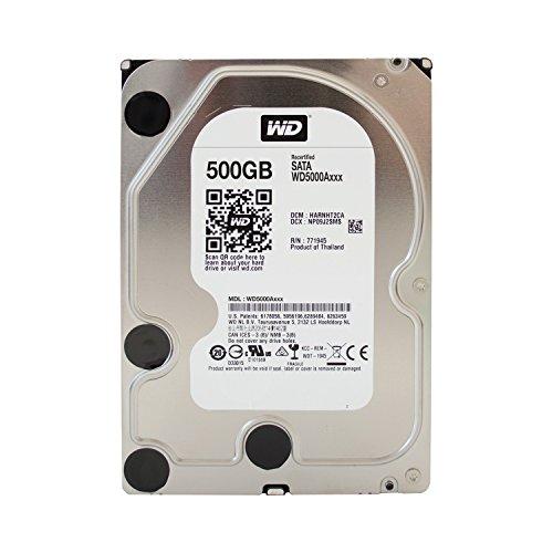 Western Digital WD Blue Interne Festplatte 3,5 inches (8,9 cm) Desktop HDD SATA 6 Gb/s - Kapazitt:500GB, Cache/RPM:16MB. 7.200 U./Min. (Generalüberholt)