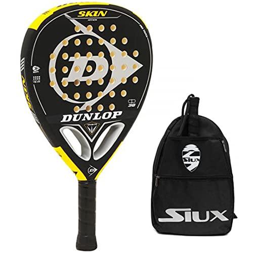 Pala Dunlop Skin Attack Soft + Bandolera Siux / Palas de Padel para Hombre Mujer Junior / Nivel intermedio y avanzado / Palas y Raquetas de Padel de Alta Potencia y Control