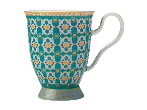 Maxwell & Williams Teas & C's Kasbah, tazza da caffè in confezione regalo, porcellana, verde menta, 300 ml