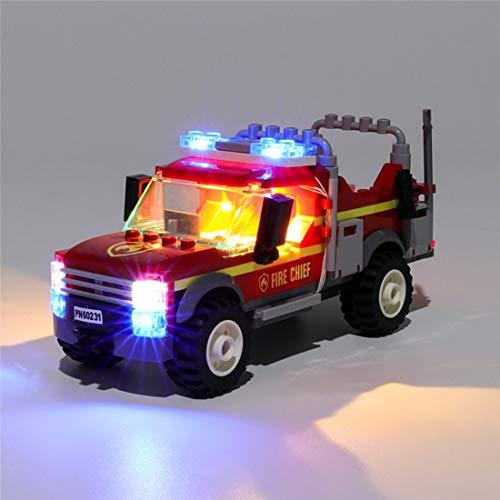 HYZM Kit de Luces para Lego City Town - Camión de Intervención de la Jefa de Bomberos Modelo, Kit de Iluminación Led Light Kit Compatible con Lego 60231 ( Juego de Legos no Incluido )
