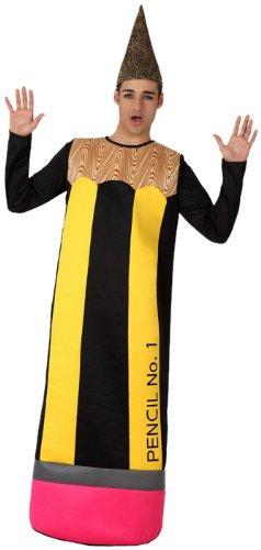 Atosa-15614 Disfraz Lápiz, color amarillo, M-L (15614)
