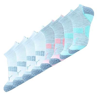 PUMA Women's 6 Pack No Show All Sport Socks (9-11, Multi)