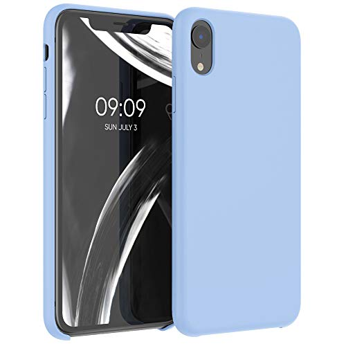 kwmobile Hülle für Apple iPhone XR - Hülle Handyhülle gummiert - Handy Case in Hellblau matt