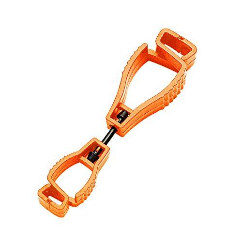 JackRuler Handschuhclip-Halter Kleiderbügel Schutz Arbeit Klemme Grabber Catcher Sicherheit Arbeit heiß für Schutzhandschuhe, Arbeitshandschuhe oder Taschenlampe (Orange)