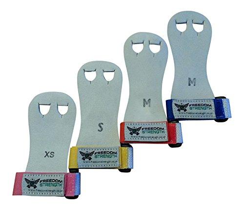 Freedom Strength Kinder Handflächenprotektoren für Gymnastikübungen, Klettverschluss in verschiedenen Farben Rosa Rose X-Small