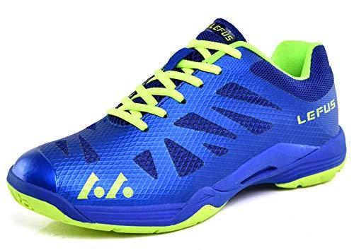 SMXX Herren Badminton Schuhe Indoor und Outdoor Sportschuhe Paar Modelle (36 EU, Blau-010)