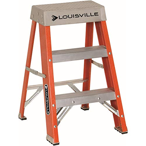 Louisville Ladder FS1502 2' Fiberglass Step Ladder, 2-Feet, Orange