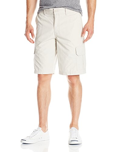 Dickies Men's 11 Inch Relaxed Fit Lightweight Ripstop Cargo Short, Stone, 36