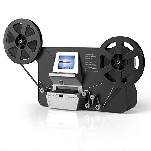 """SUPER 8 Scanner, Super 8 - Normal 8 Filmscanner MovieMaker Pro Film Digitizer, Super 8 digitalisieren, mit 32 GB Speicherkarte und 2,4\"""" LCD"""