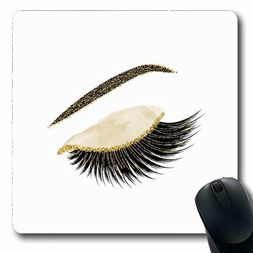 Luancrop Mousepads Wimpern Wimpern abstrakte Make-up Wimpern Wimperntusche schwarz rutschfeste...